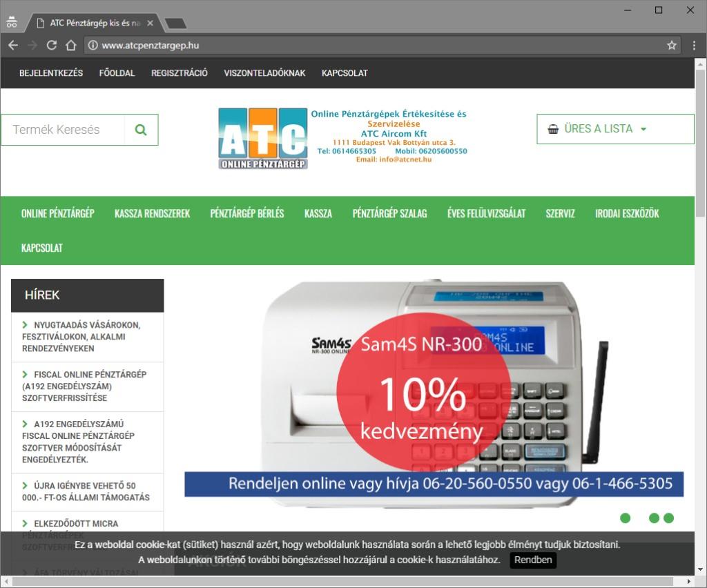 ATC Pénztárgép webáruház