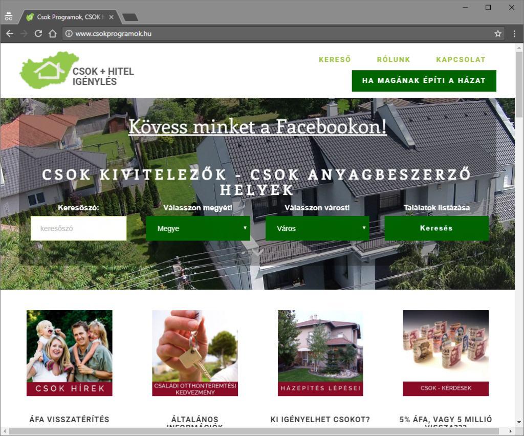 CSOK hitel oldala