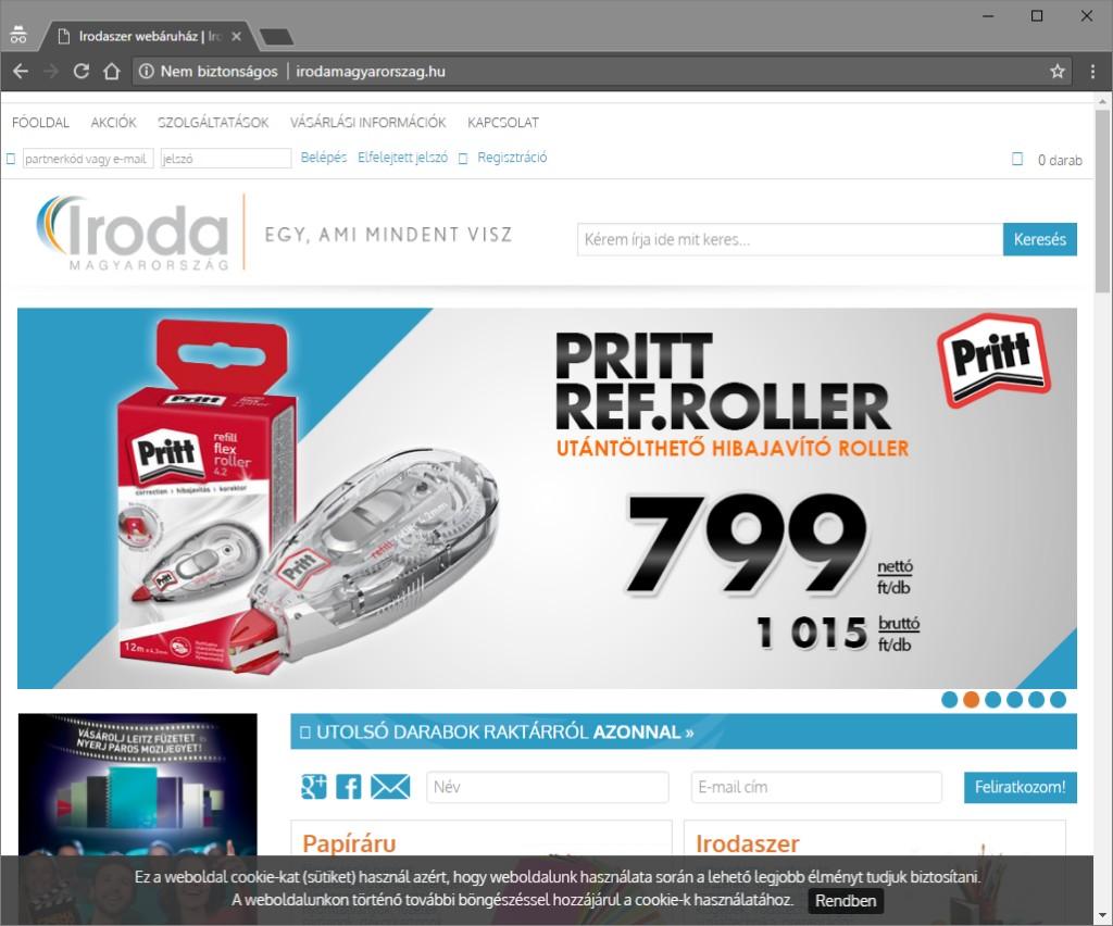 Iroda Magyarország weboldala és áruháza