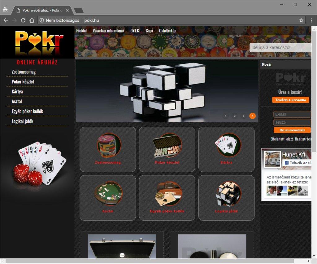 Poker kellékek webáruháza