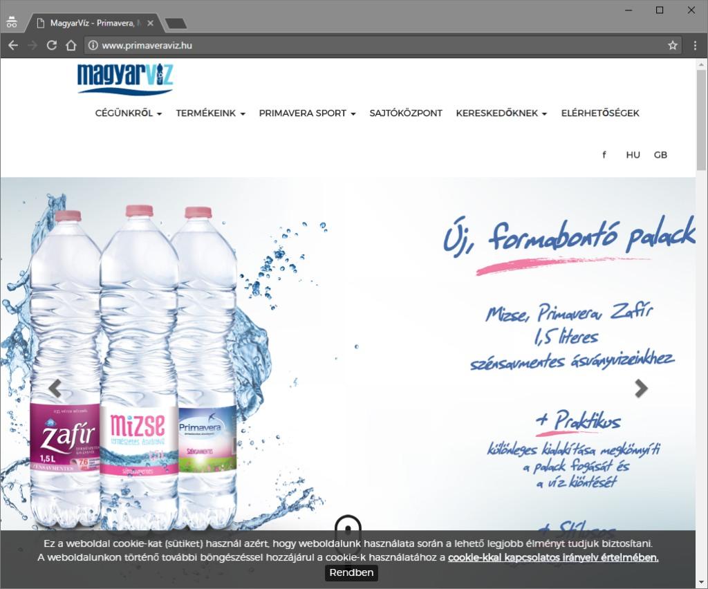 Primaveraviz oldala