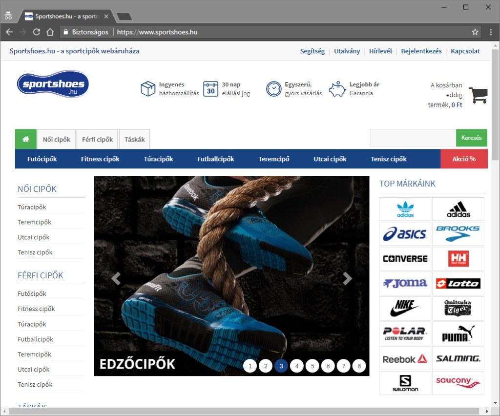 Sportshoes webáruház